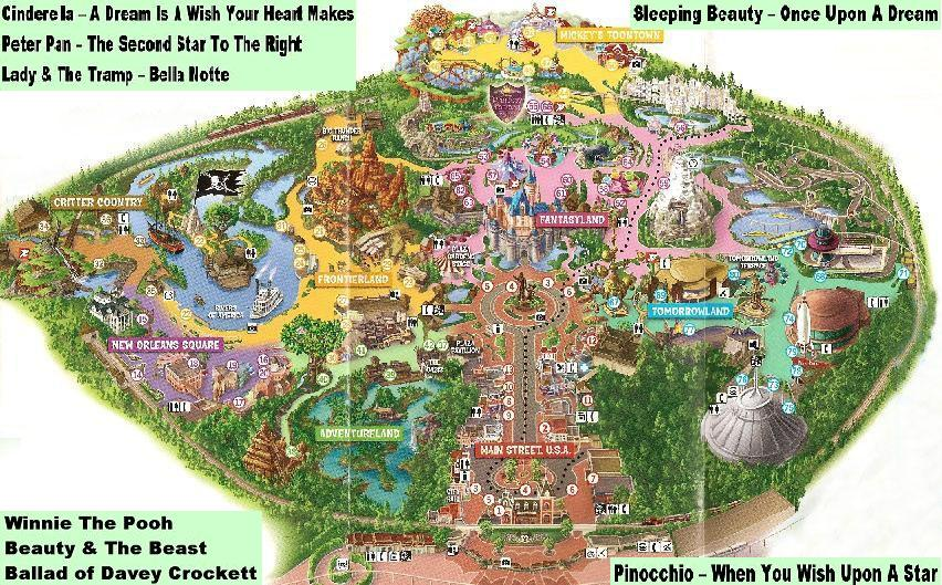 Disneyland Interactive Map Anaheim California